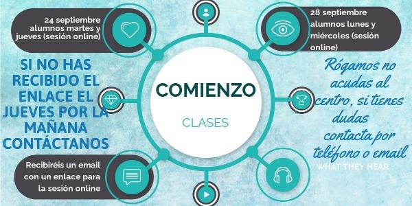 COMIENZO DE LAS CLASES