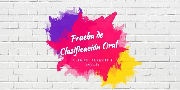 PRUEBA DE CLASIFICACIÓN ORAL