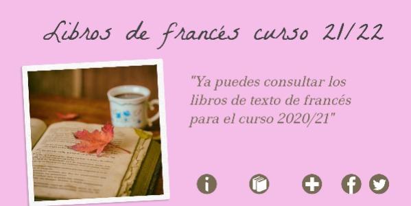 LIBROS DE FRANCÉS CURSO 2021/2022
